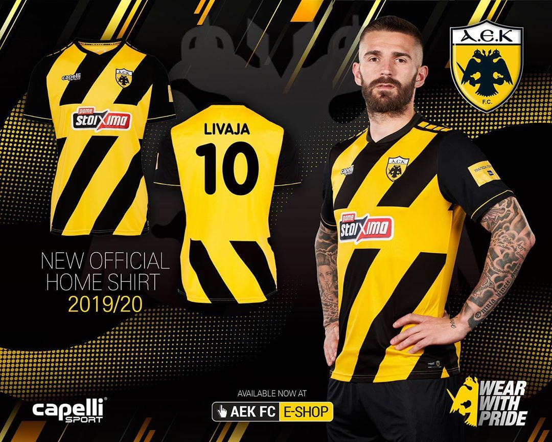 AEK Athens 2019-20 Capelli Sport Home Kit | 19/20 Kits ...