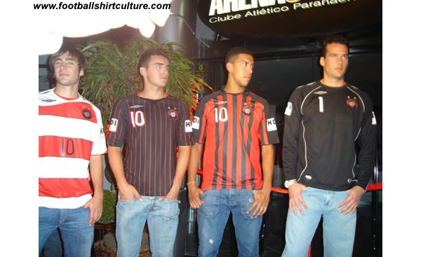 Club Atletico Paranaense and Umbro presented the new collection of uniforms for the 2008/2009 season