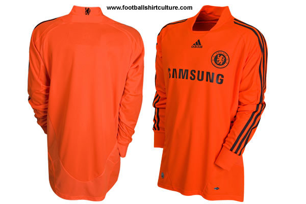 New chelsea home goalkeeper shirt for the 2008/09 season made by adidas