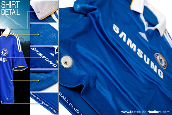 Chelsea FC have unveiled their new 08-09 home football kit made by Adidas