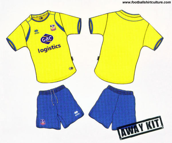 Crystal Palace away kit 08/09 by errea