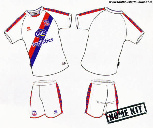 Crystal Palace home kit 08/09 by errea