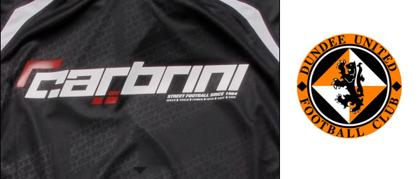 The Dundee United shirts will be emblazoned with the Carbrini brand which is aimed at teenage boys