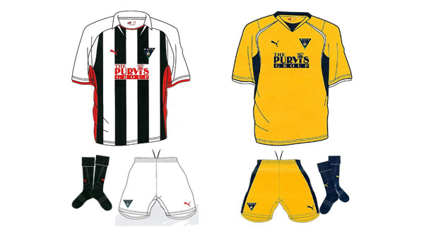 Dunfermline unveiled their new home and away kits for the 08-09 season made by Puma.