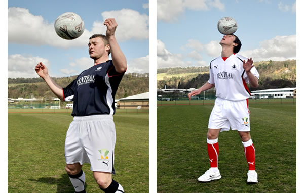 Falkirk Football Club are pleased to reveal their new strips for season 2008/09