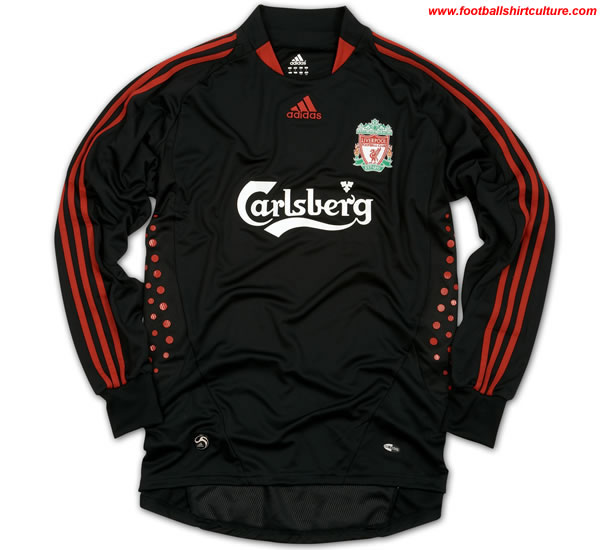liverpool GK home shirt made by adidas for the 2008/09 season