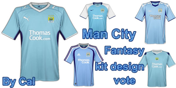 Manchester city home, away and 3rd Fantasy kits