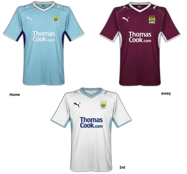 Manchester City Puma Fantasy home, away and 3rd kits
