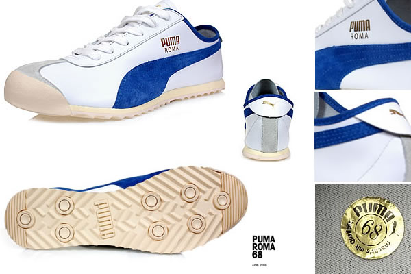 This LE edition is a 1-1 re-issue back in its original spec and colour-way. The upper is a clean silhouette of white team royal in a plush leather with super soft suede overlays. Subtle attention to detail appears with the addition of old school cotton laces as well as the original Puma gold sticker of authenticity in the sockliner.