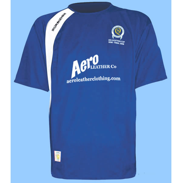 To commemorate the achievement of reaching the semi-final of the Scottish Cup for the first time in 58 years Queens have produced an all new strip just for the occasion.