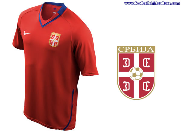 This is the new Serbia home Nike football shirt made for the 2008/2009 season.