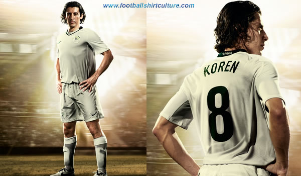 This is the new Slovenia home Nike football kit made for the 08/09 season.