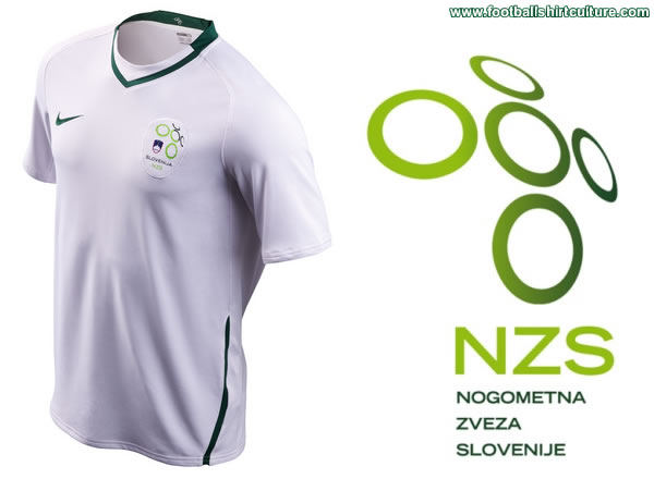 new Slovenia home Nike football shirt made for the 08/09 season.