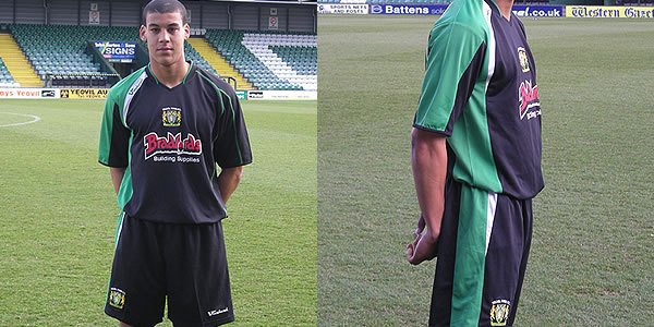 This is the new Yeovil town away kit for the 08/09 season made by Vandanel