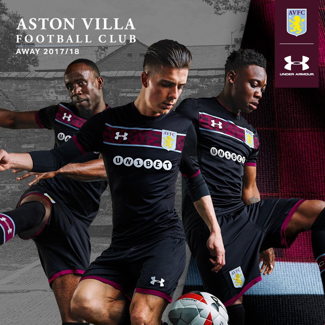 Aston Villa 17 18 Under Armour Away Kit 17 18 Kits Football Shirt Blog