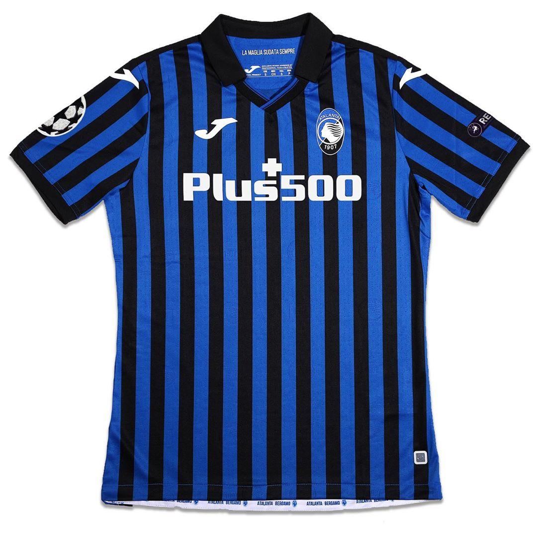 Atalanta 2020-21 Joma UCL Home Shirt | 20/21 Kits | Football shirt ...