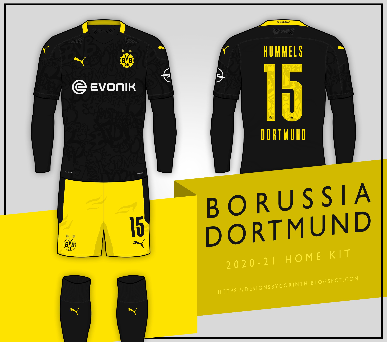 Borussia Dortmund 2020-21 Away Kit Prediction | Kit design ...
