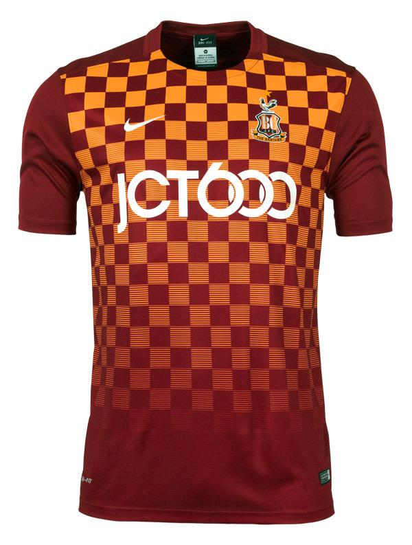 Bradford City 2015 2016 Nike Home Football Shirt A