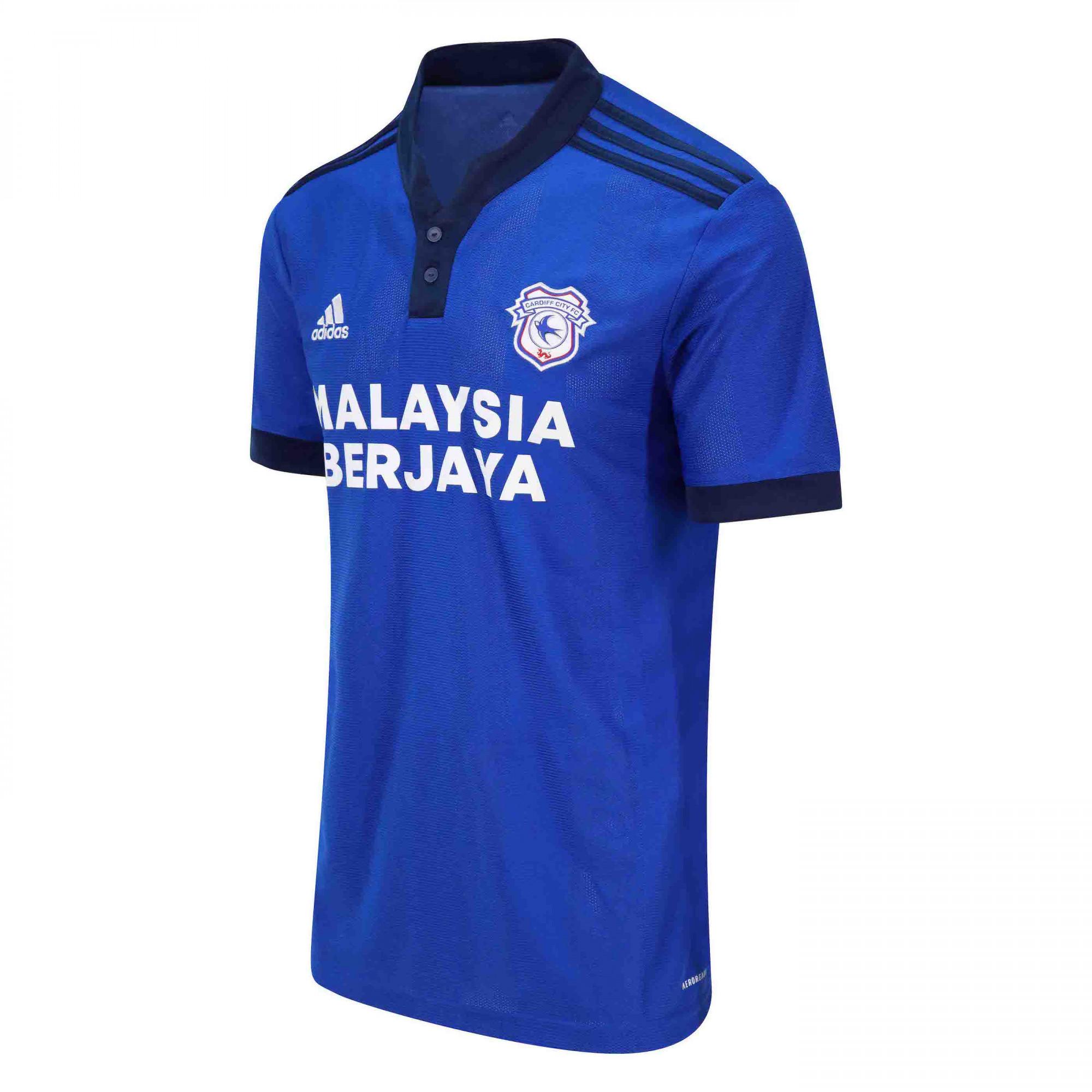 Cardiff City 2021-22 Adidas Home Shirt   21/22 Kits   Football ...