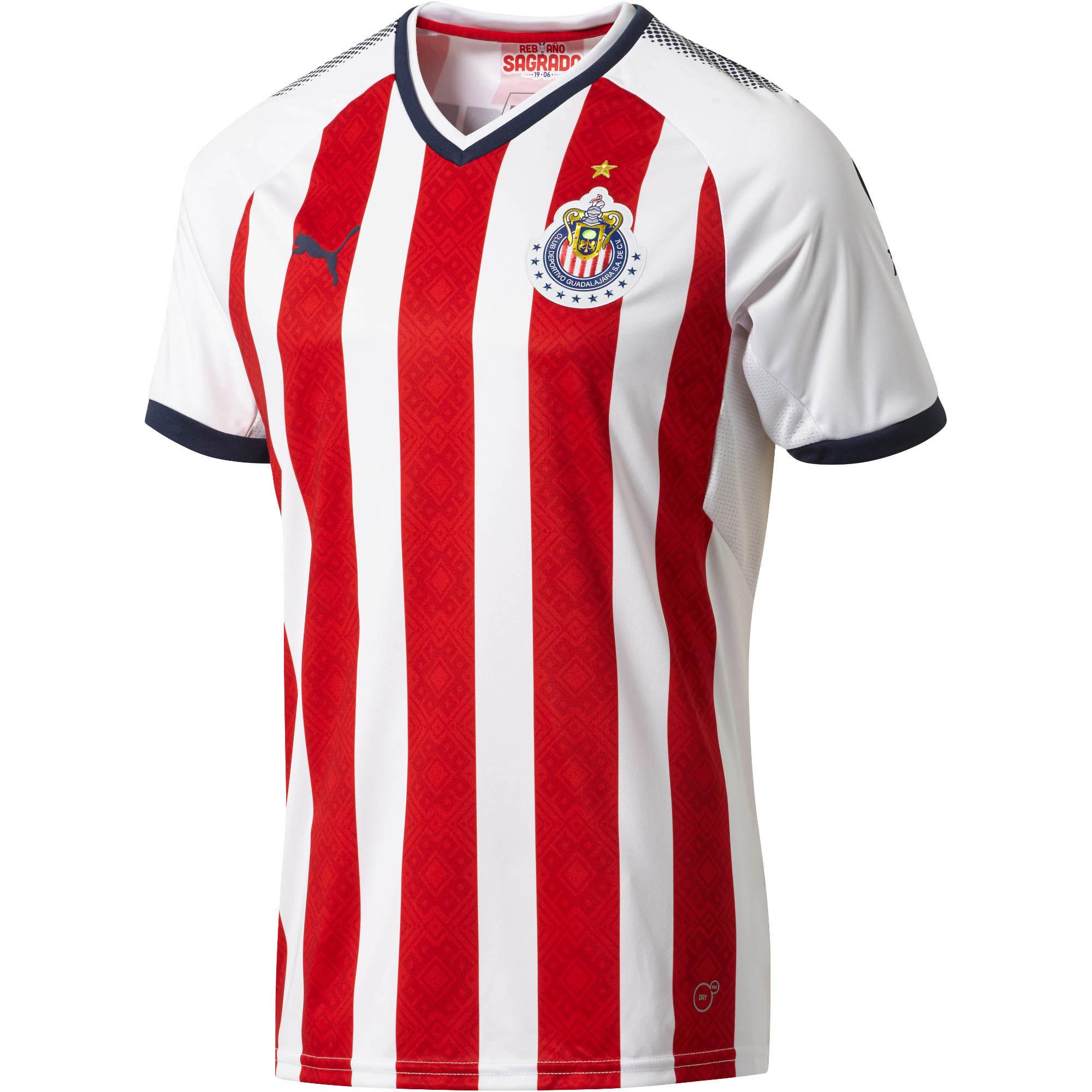 differently abffc 11b6a Chivas 17/18 Puma Home Kit | 17/18 Kits | Football shirt blog