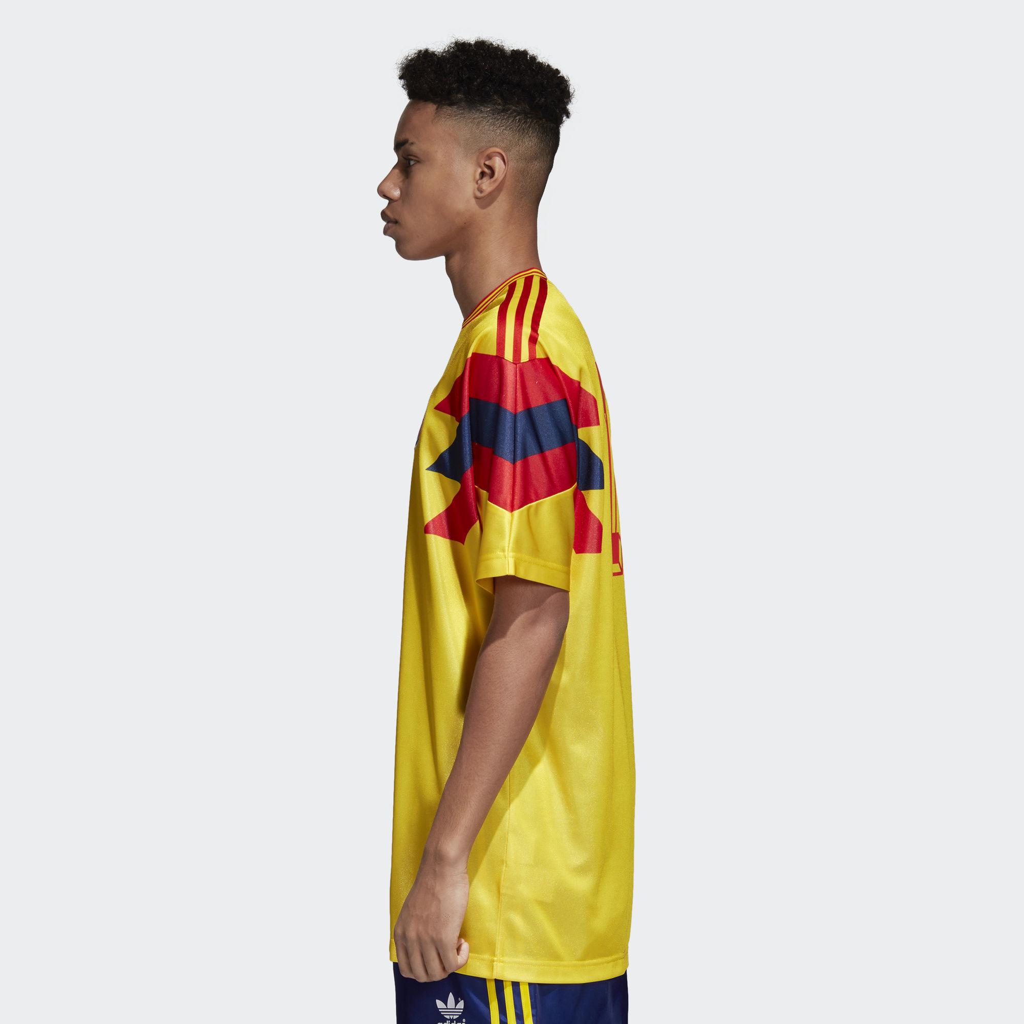 64dcdd0cc ... Click to enlarge image  colombia_1990_adidas_originals_home_replica_jersey_b.jpg ...
