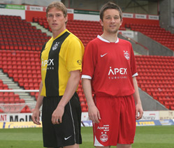 The new Aberdeen home and 3rd kits for 2007-08 have been revealed