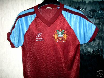BURNLEY Vintage Home Shirt 1983 Spall Sports MEGA RARE