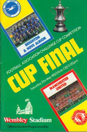 Brighton and Hove Albion were enjoying a rare spell in the top flight in 1982-83, and after a good cup run their loyal fans were in disbelief to also find themselves in the 1983 FA Cup Final. However, it was no fluke that they had reached the final.