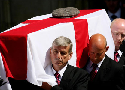 His funeral was held in Winchester Cathedral on Thursday, 3 May 2007. Ball is the second of the 1966 World Cup winning team to die, the first being captain Bobby Moore in 1993