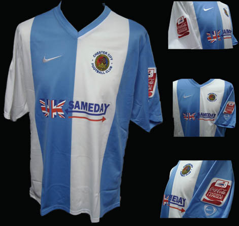 Chester City together with our partner Queensferry Sports and our main sponsor UK Sameday/APC are able to unveil the home shirt for the forthcoming 2007/8 season.