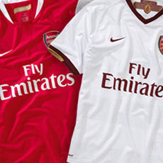For season 2007/08 Arsenal will wear a new away kit with a design that celebrates the pioneering spirit of legendary Arsenal manager Herbert Chapman. The new kit embraces design features that highlight Chapman's influence over the game to this day, and sees a return to the white away shirts worn throughout the Club's history.