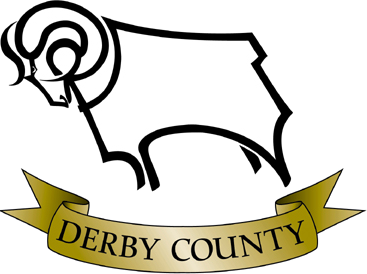 The design was changed again in 1997 (see right): the ram faced now left and the golden banner now simply read 'Derby County'; the diamond and year of formation were removed.