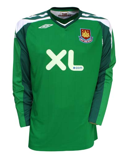 New west Ham Goalkeeper shirt 0708