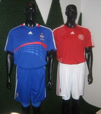 new france and denmark euro 2008 kits?