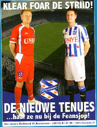 These are the new SC Heerenveen home and away kits fot the 2007/2008 season made by Umbro.