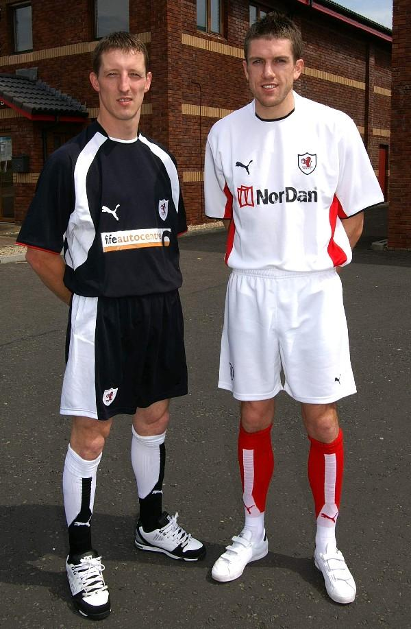 Rovers fans were given their first look at the new strips to be worn by the players next season when the Home and Away kits for 2007-2008 were unveiled at an Open Day attended by Rovers manager John McGlynn and players Steven Hislop and Craig Winter at Fife Autocentre's new premises at Eastfield, Glenrothes this morning.