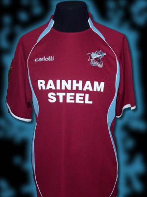 The Iron will wear a predominately claret home shirt for their first season back in the Championship