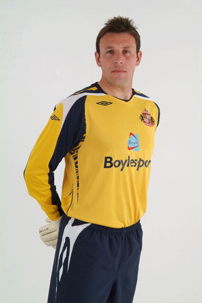 new sunderland Goalkeeper kit umbro 07/08