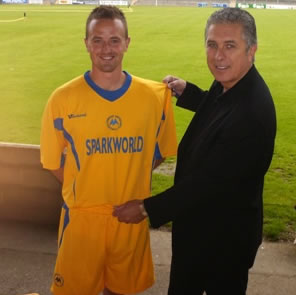 Steve Woods today showed off the new home kit for next season which will be worn for the first time when Torquay take on Plymouth Argyle for Kevin Hills testimonial match on July 14th.