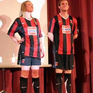 Pools brand new away kit was officially revealed at Tuesday night's Player of the Year awards, where it received a top reception.The black and red striped kit is once again made by Nike and is sponsored by DNO