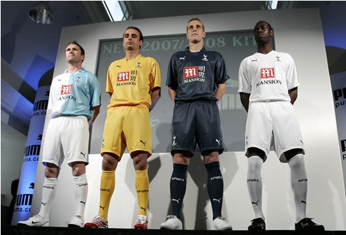 4 new spurs 125 years kits 07/08 made by puma