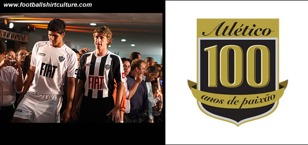 Clube Atlético Mineiro was founded on March 25, 1908 by 22 middle-class boys from Belo Horizonte. To celebrate their centenary Atlético Mineiro launched their new 08/09 Centenary football shirts made by lotto.