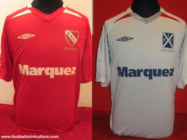 Independiente launched their new home and away football shirts for the 08/09 season.