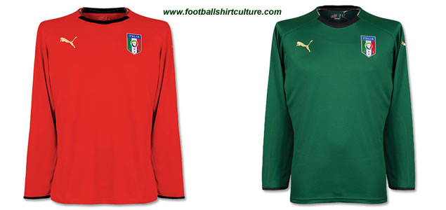 Italy home and away 08/09 Goalkeeper shirts by Puma