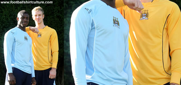 Manchester City have unveiled the shirts that the team will wear in this Sunday's derby at Old Trafford.