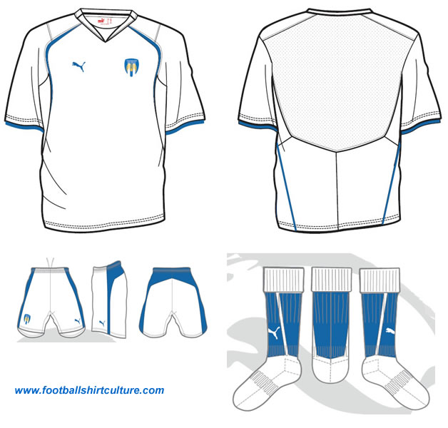 Colchester United 3rd 08-09 kit design by Puma