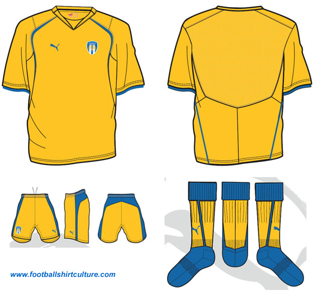 Colchester United away 08-09 kit design by Puma
