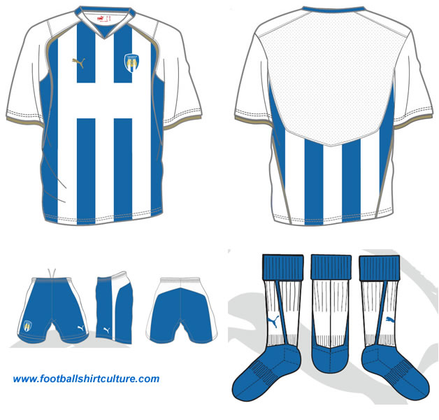 Colchester United home 08-09 kit design by Puma