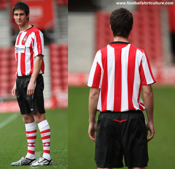 Southampton fc have revealed their new home kit for the 08/09 season.