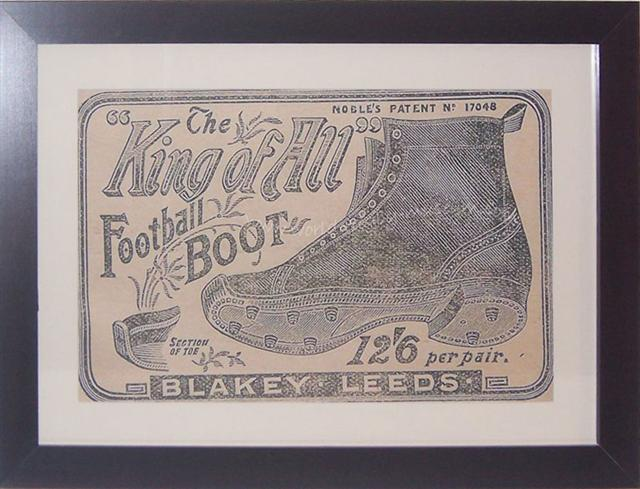 'King of All Football Boot' advertisement 1896